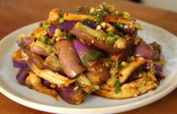 Eggplant and soy sauce side dish -가지나물