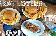 MEAT LOVERS TRY VEGAN FOOD – Vegan in London Ep. 4 – Cheap Lazy Vegan