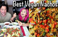 VEGAN NACHOS & BURRITOS – Mexican Mukbang – Eating Show