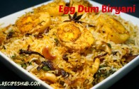 egg dum biryani recipe –  Hyderabadi egg biryani