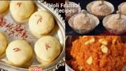 Holi Festival Dessert Recipes – Doodh Peda – Gajar Halwa – Coconut Ladoo – Compilation