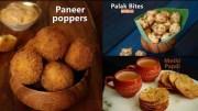 Snacks Recipes – Paneer Poppers – Methi Papdi – Palak Bites – Compilation