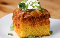 Chili-Cheese Corn Bread Poke Cake