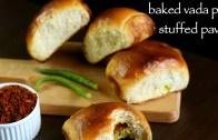baked vada pav recipe – masala bun recipe – eggless ladi pav recipe