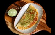 cheesy sandwich dosa recipe – sandwich uttapam recipe