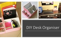 DIY Multipurpose Desk Organizer From Shoe Box