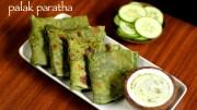 palak paratha recipe – spinach paratha recipe – palak ka paratha