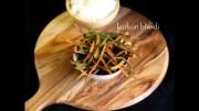 kurkuri bhindi recipe – bhindi fry recipe – crispy okra fry recipe