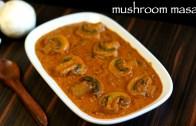 mushroom curry recipe – mushroom masala recipe – mushroom gravy recipe