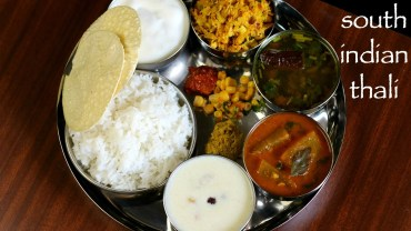 south indian thali recipe – veg south indian lunch menu ideas