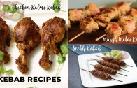 Kebab Recipes – Chicken Kalmi Kebab – Murgh Malai kebab – Seekh Kebab