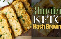 Easy Cauliflower Hash Browns – 3 Ingredients – Keto – Low Carb
