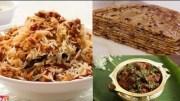 Mutton Recipes Compilation – Mutton Pepper masala – Keema Biryani & Paratha