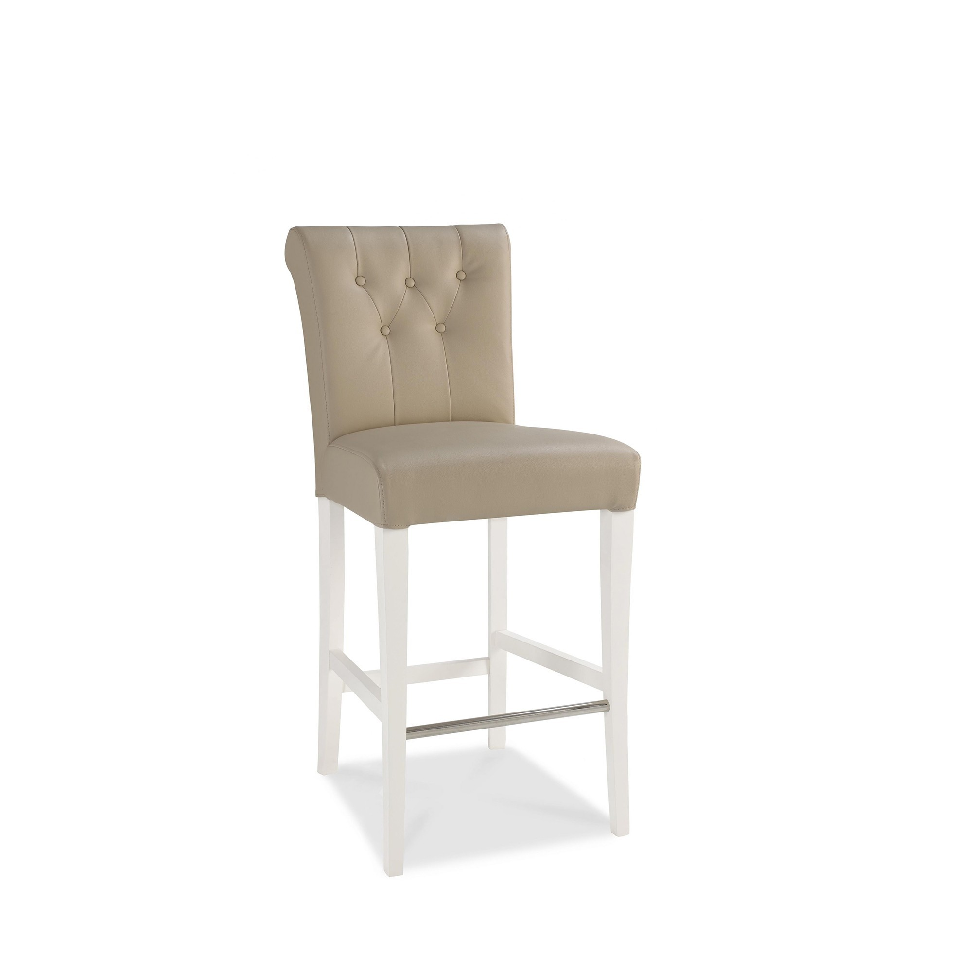 Upholstered Bar Chairs Cookes Collection Camden Two Tone Leather Upholstered Bar Stool