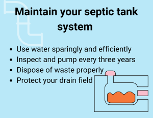 Maintain your septic system