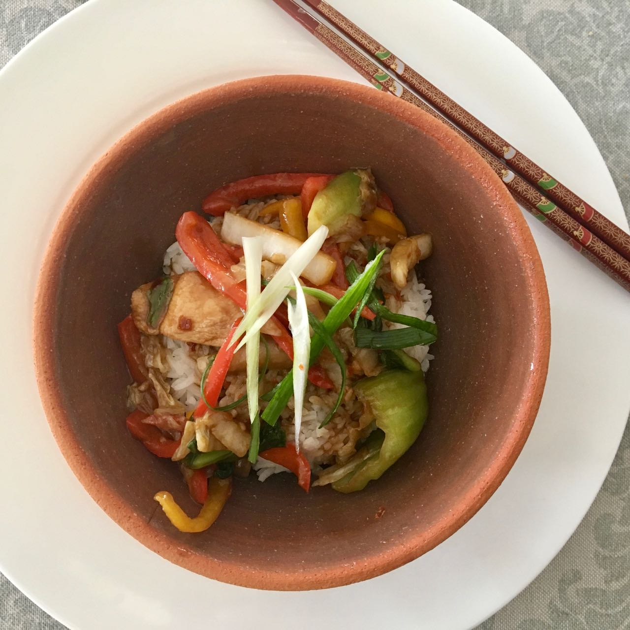 Hoisin Chicken Stir Fry with Baby Bok Choy