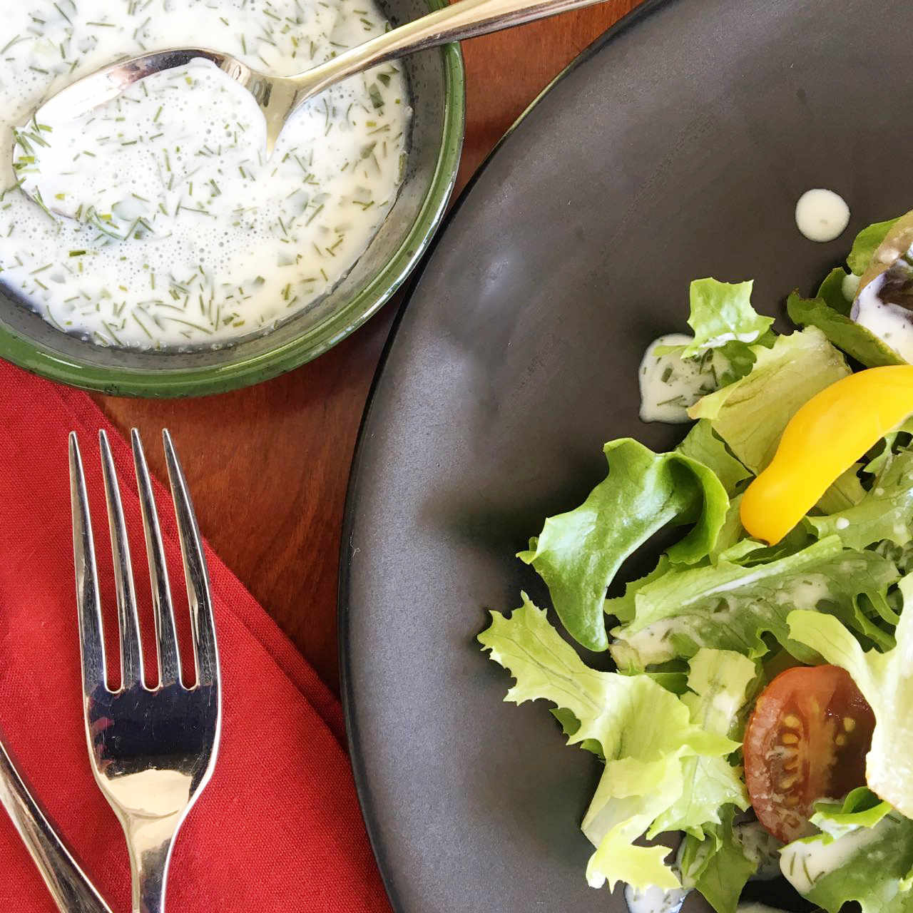 Fresh, Tangy Ranch Dressing from Scratch