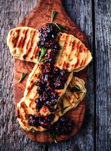 Bacon Jam on Braaied Rosemary Flatbreads, a Recipe from Braai the Beloved Country by Jean Nel | cookglobaleatlocal.com