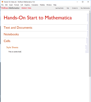 Video guided Mathematica Notebook creation.