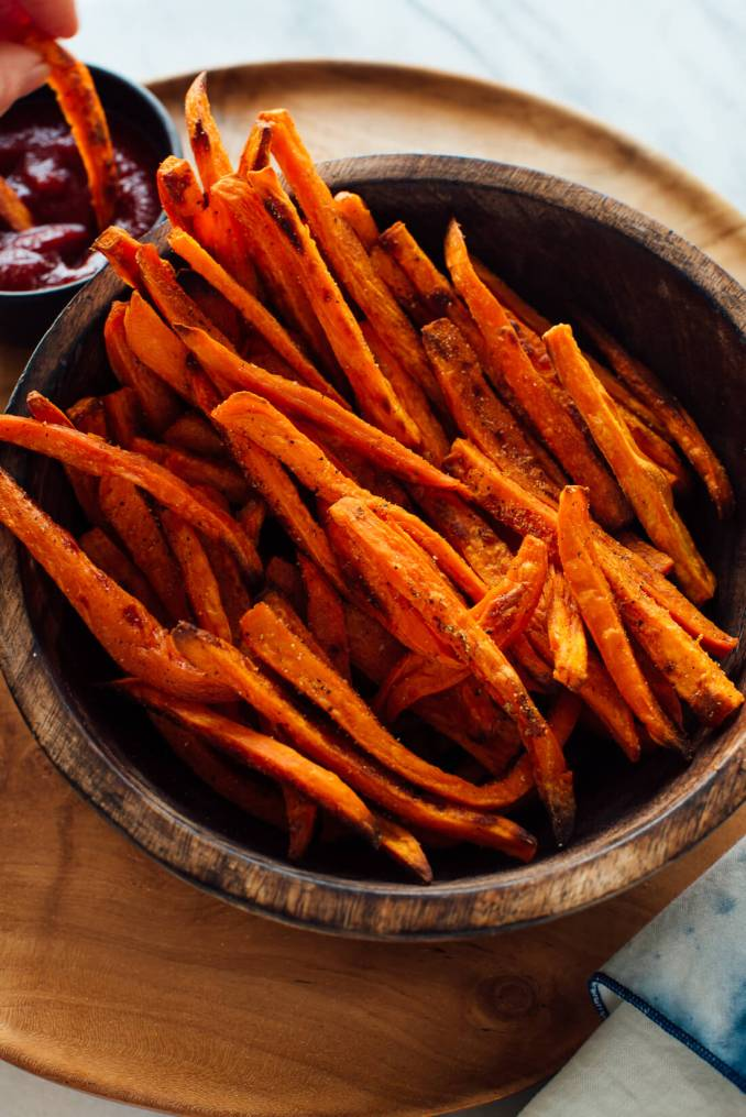 Crispy Baked Sweet Potato Fries - Cookie and Kate