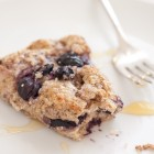 blueberry scone with whole wheat flour and yogurt