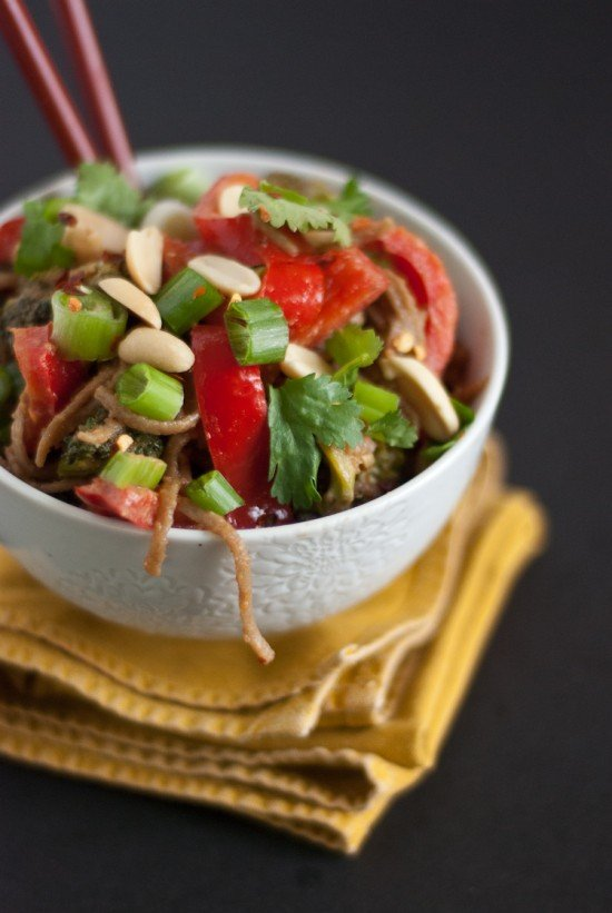 peanut soba noodle bowl