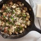 egg and potato breakfast scramble