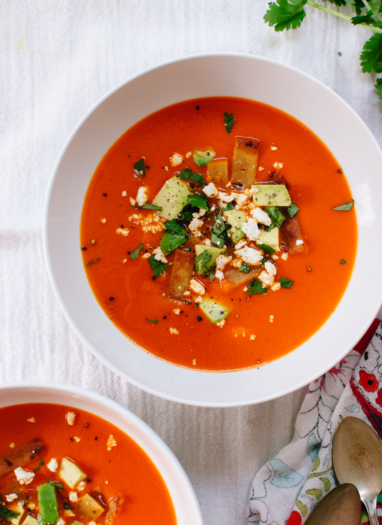 blendtec kitchen mill italian cabinets roasted red pepper tortilla soup - cookie and kate