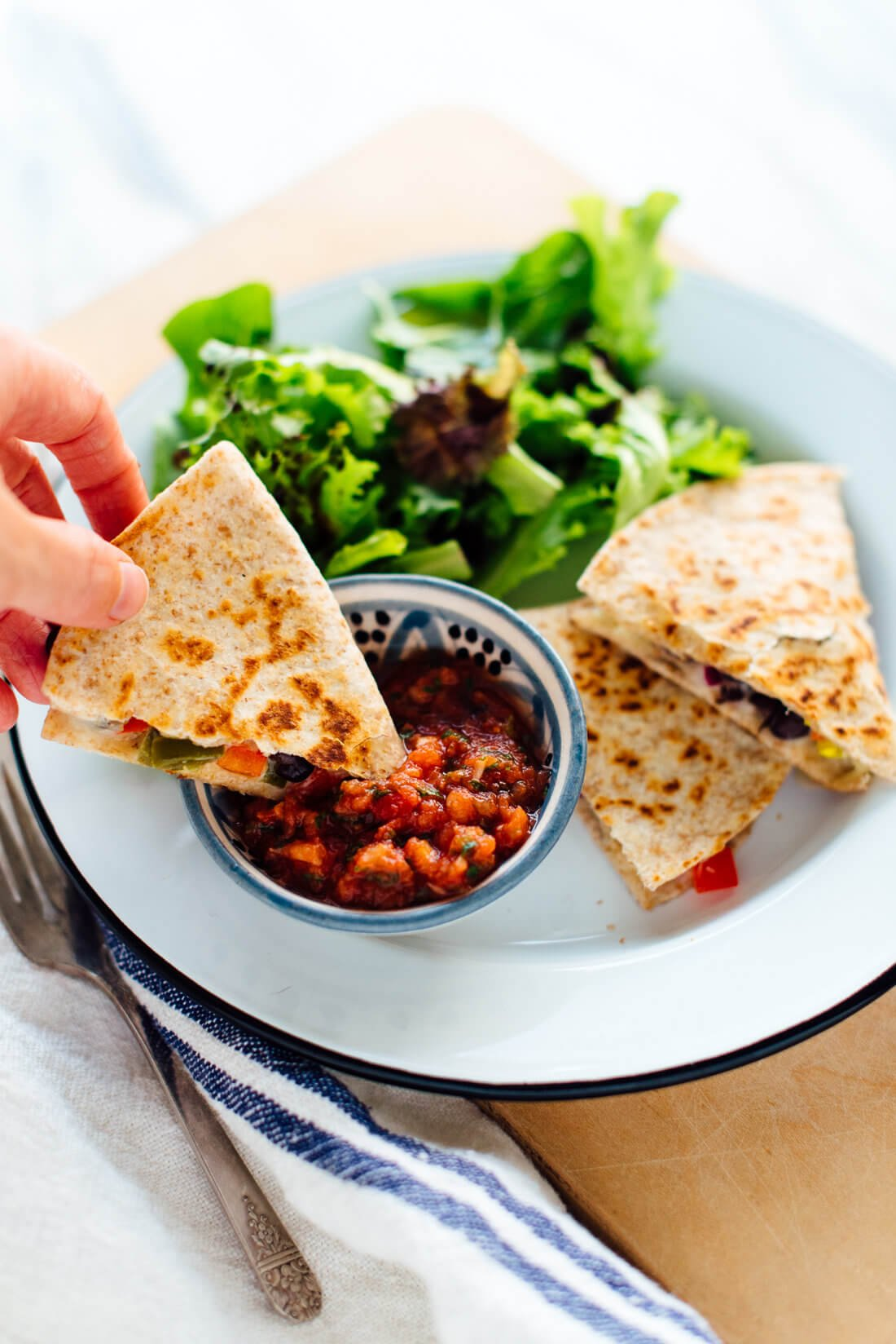 10Minute Quesadillas Recipe  Cookie and Kate