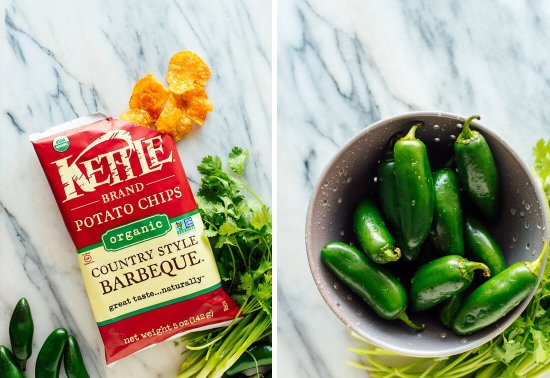 Kettle brand barbecue chips and jalapeños