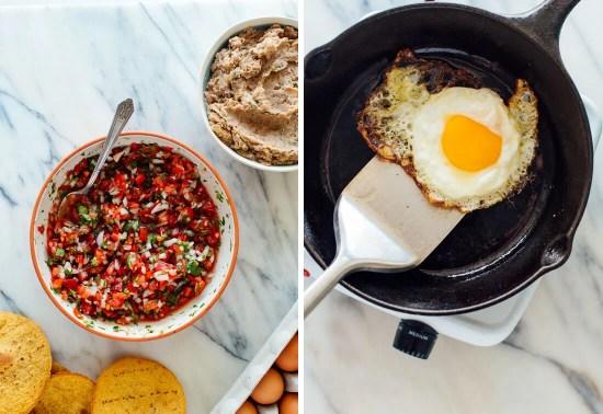 pico de gallo and fried egg