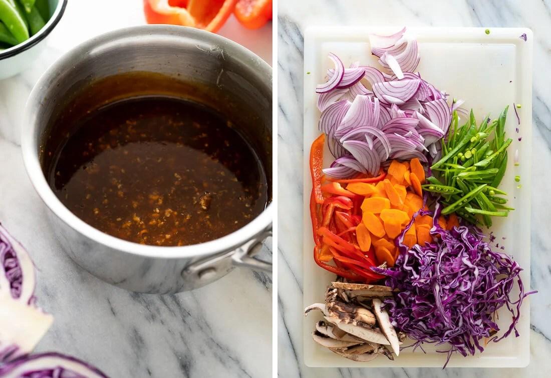 teriyaki stir-fry ingredients