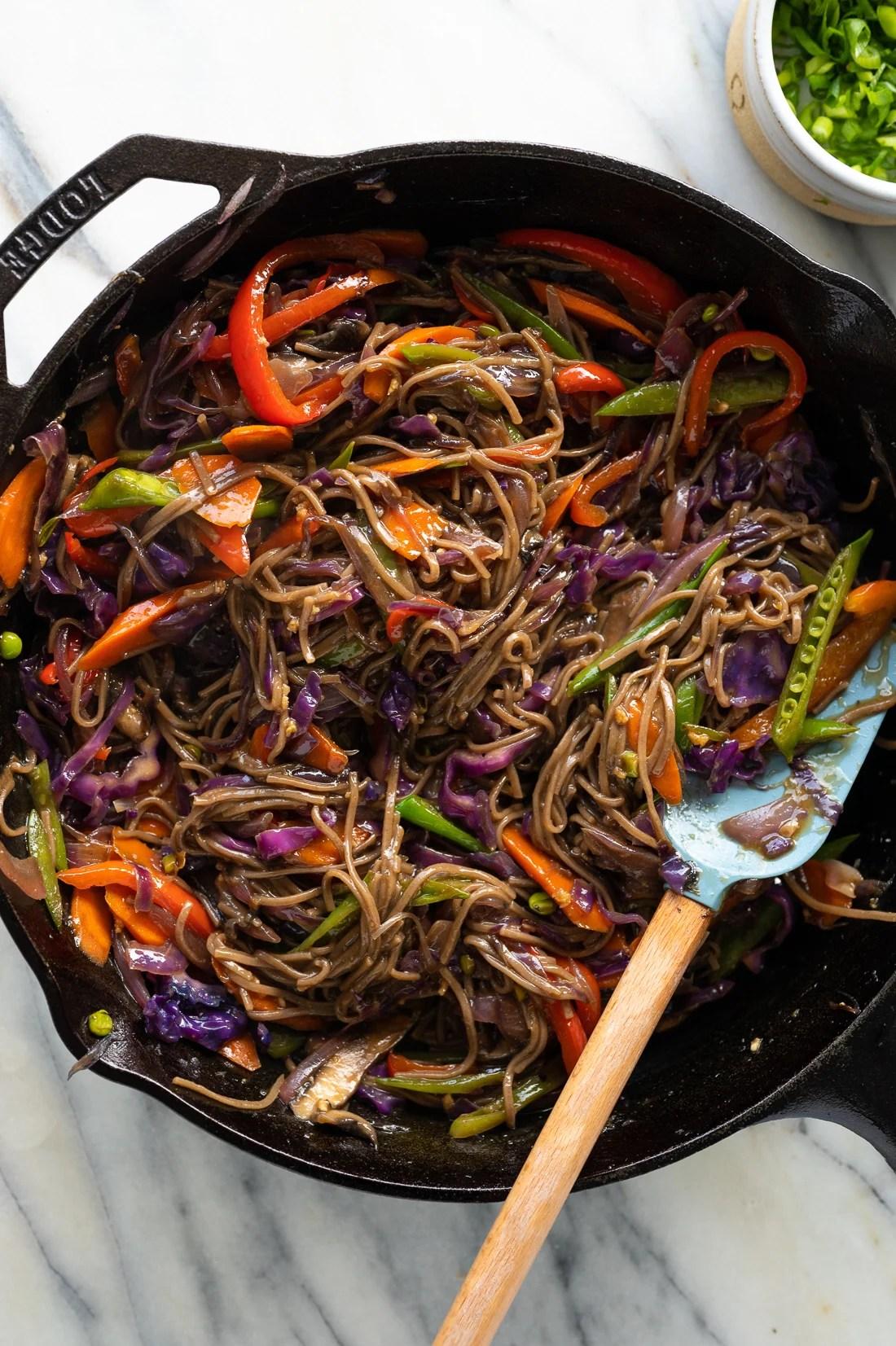 vegetarian teriyaki stir fry with noodles recipe