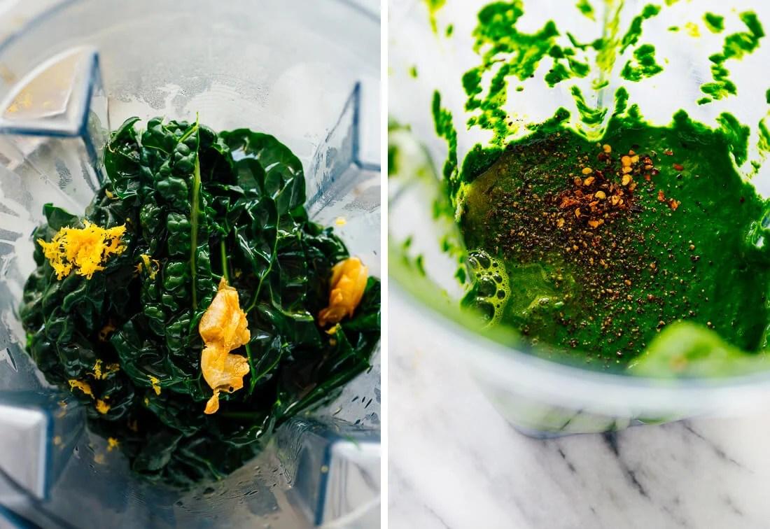 blended kale sauce