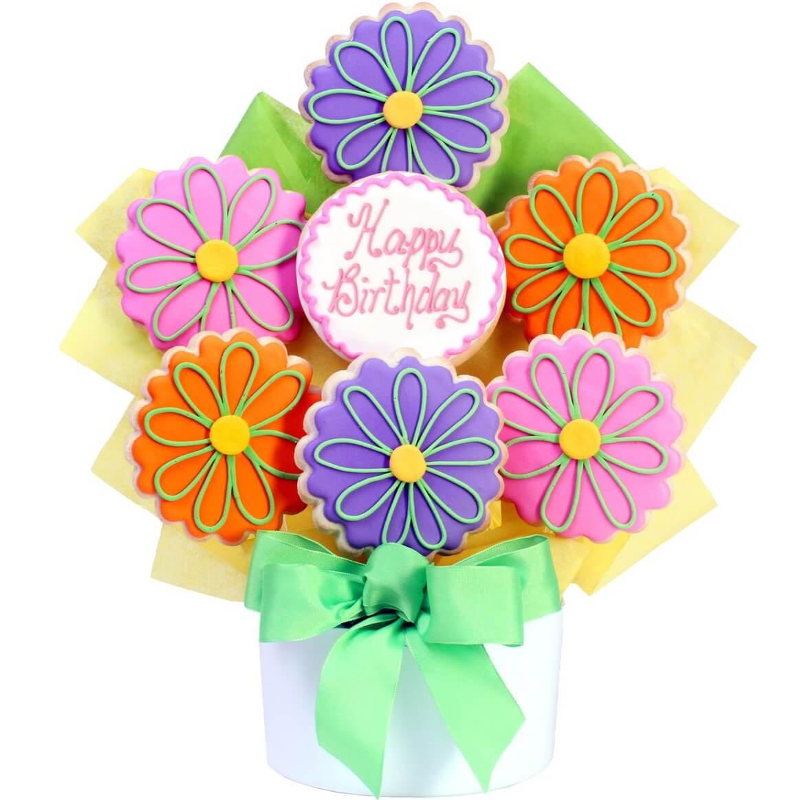 happy birthday flowers cutout