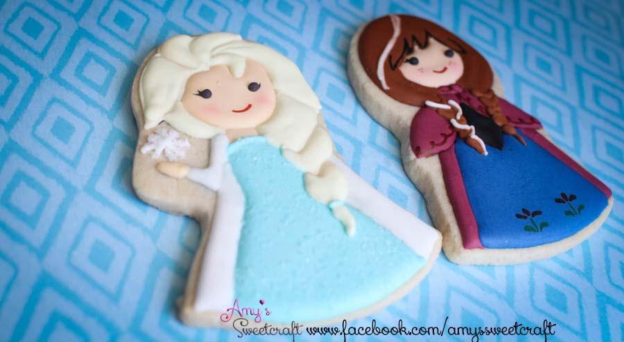 Frozen Princesses Elsa and Anna  Cookie Connection