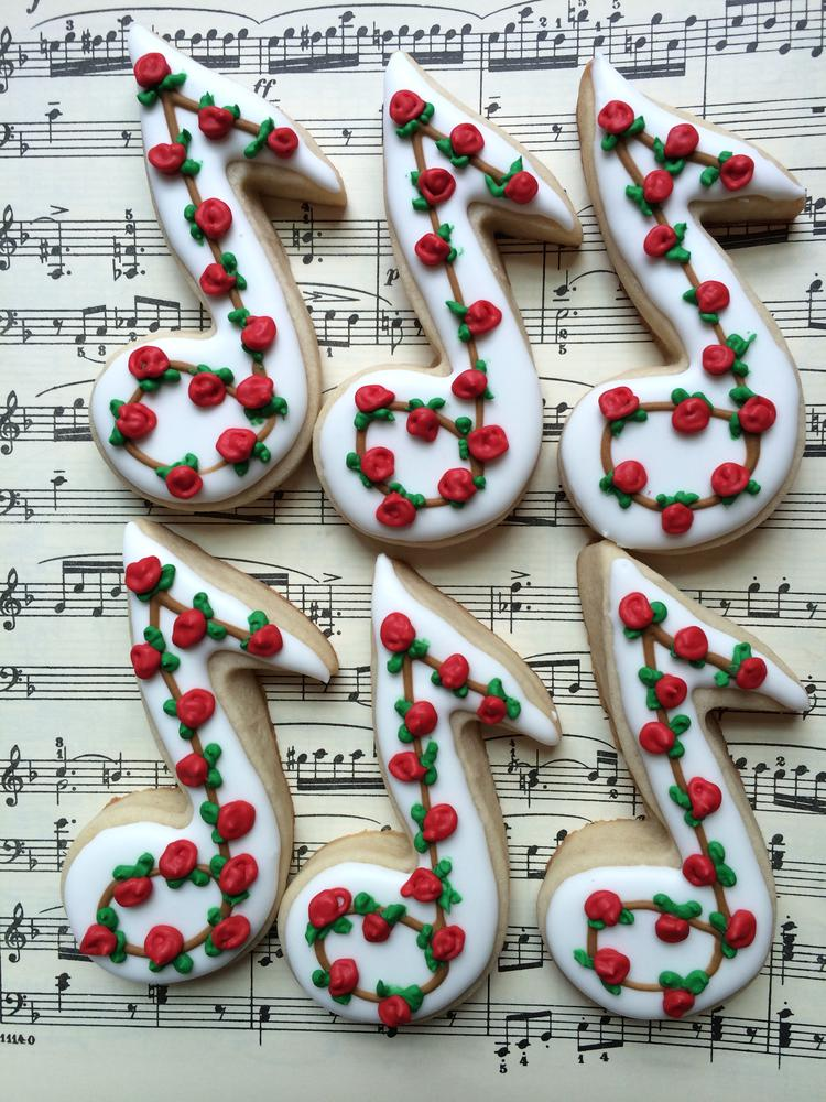 music note cookies for a piano recital  Cookie Connection