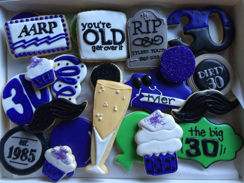 30th Birthday Over The Hill Cookies Cookie Connection