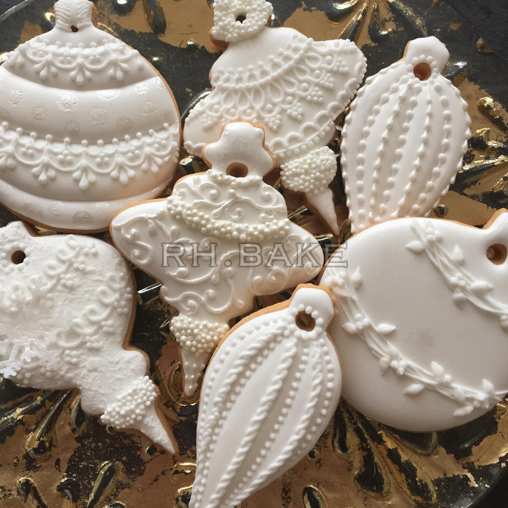 White Christmas Ornaments Cookie Connection