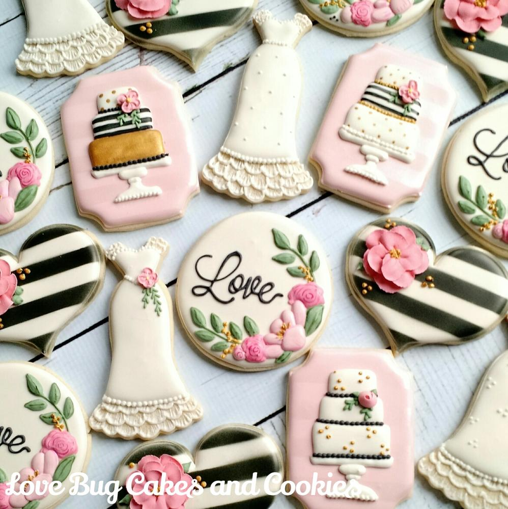 Black and White Wedding  Cookie Connection