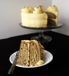 Roasted Banana Cream Cake