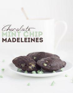Chocolate Mint Chip Madeleines