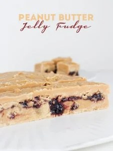 Peanut Butter Jelly Fudge