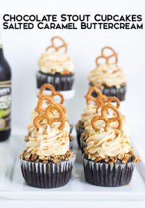 Chocolate Stout Cupcakes with Salted Carmel Frosting