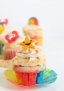 whimsically decorated Beach Cupcakes