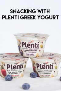 Snacking With Plenti Greek Yogurt