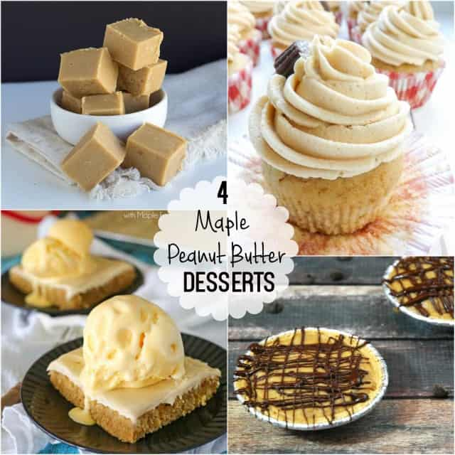 4 Incredible Maple Peanut Butter Desserts that you have to try!