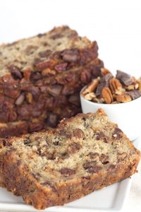 Extreme Banana Nut Bread - roasted bananas, toasted pecans and chocolate chunks!