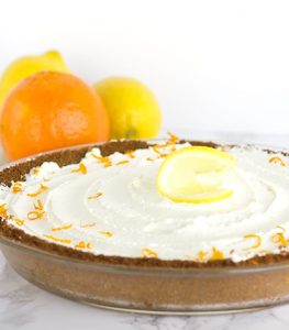 Tangerine Cream Pie - a delicious gingersnap crust with a tangerine curd filling and a whipped cream topping!