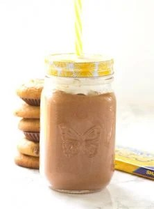 Chocolate Peanut Butter Milkshake - a quick and easy chocolate peanut butter milkshake that makes the perfect sweet treat!